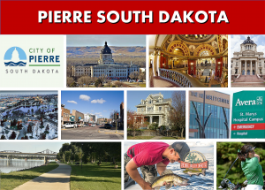 Pierre SD South Dakota - City Photo Montage - Website Page Photo Banner - Transportation Services Between Minneapolis MN and Pierre SD