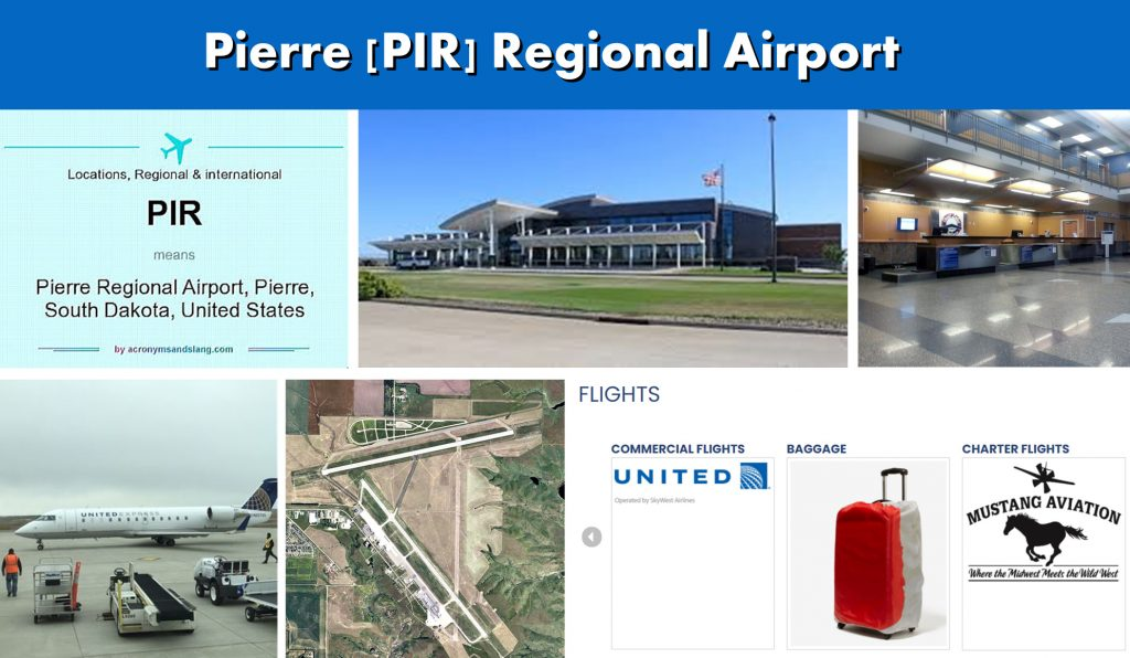 Pierre South Dakota PIR Regional Airport Serving the Capitol City of Pierre SD - Airport Terminal Images