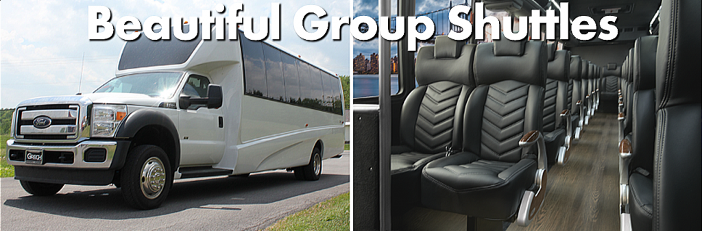 Luxury Shuttle Bus Services Minneapolis MN Transportation to-from Mayo Clinic in Rochester MN Shuttle Vehicle Photos