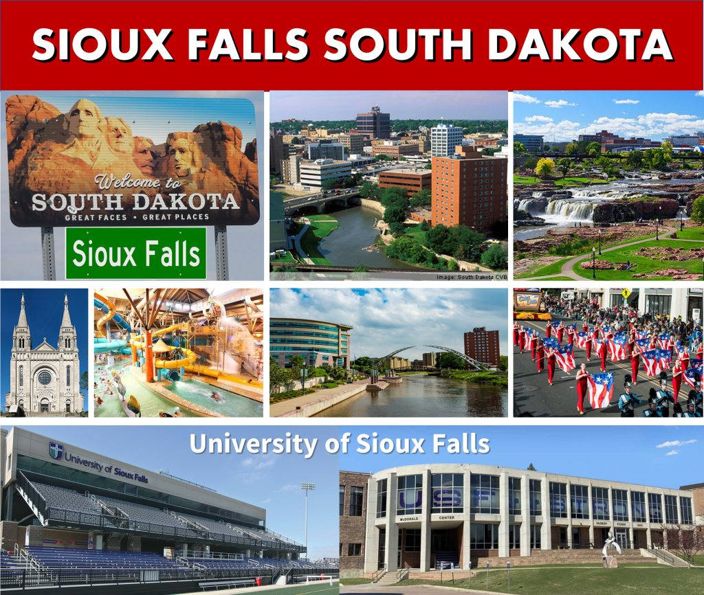 Sioux Falls SD South Dakota Website Page Banner City Photo Montage