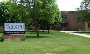 Waterloo IA EXPO High School Exterior Building and Sign Image