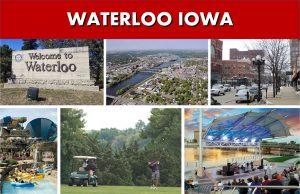 Waterloo IA Iowa Website Page Banner Photo Montage