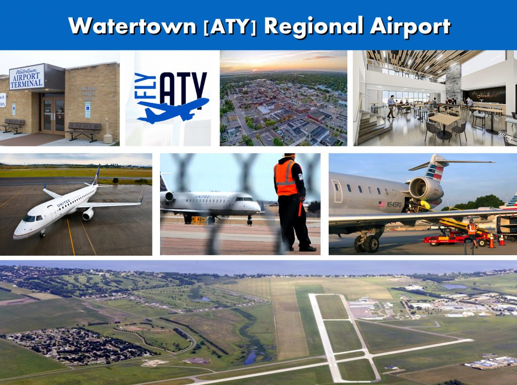 Watertown SD ( ATY) Regional Airport Images Photo Montage