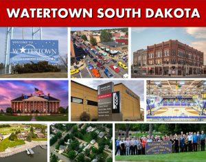 Watertown SD South Dakota Website Page Banner Photo Montage