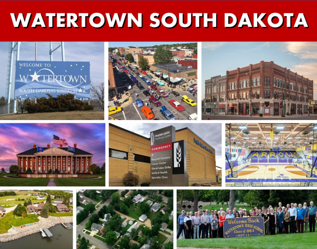 Watertown SD South Dakota Website Page Banner Photo Montage