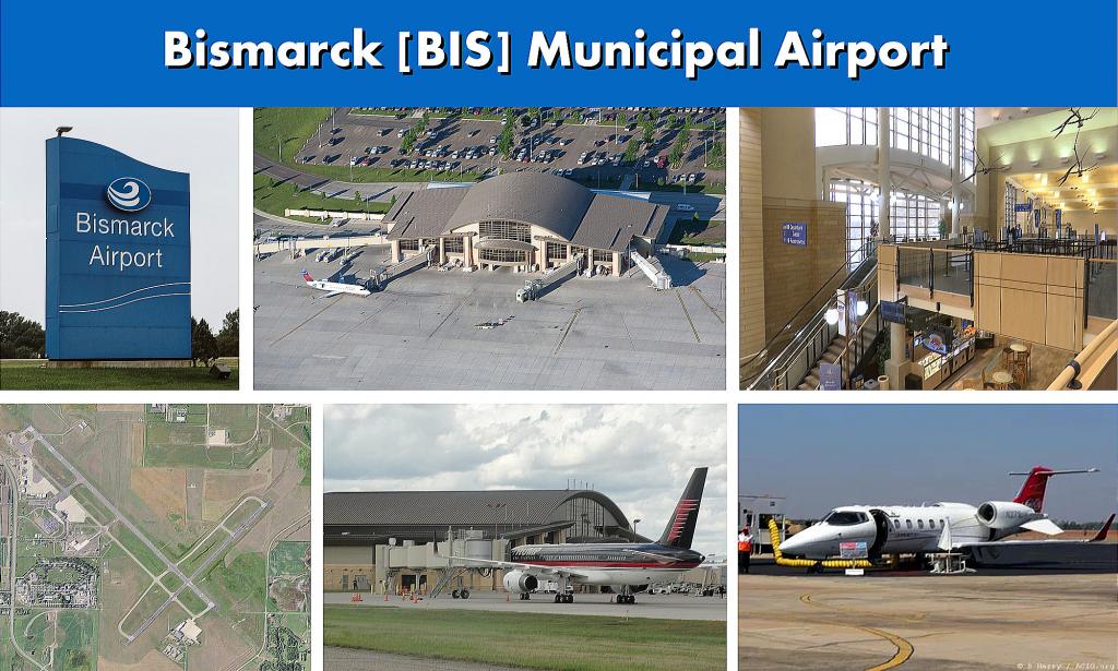 Bismarck BIS Municipal Airport Serving the Bismarck North Dakota Area - BIS Airport Terminal Images
