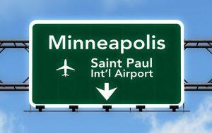 MSP Minneapolis-St Paul International Airport - Highway Airport Sign Photo
