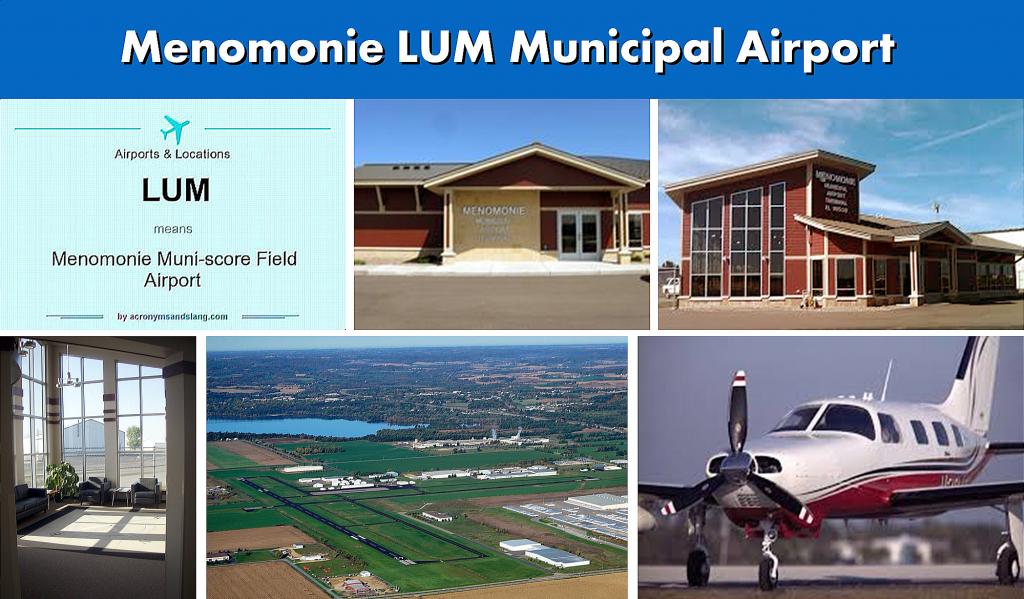 Menomonie WI (LUM) Municipal Airport Serving the Menomonie Wisconsin Area - Airport Terminal Images