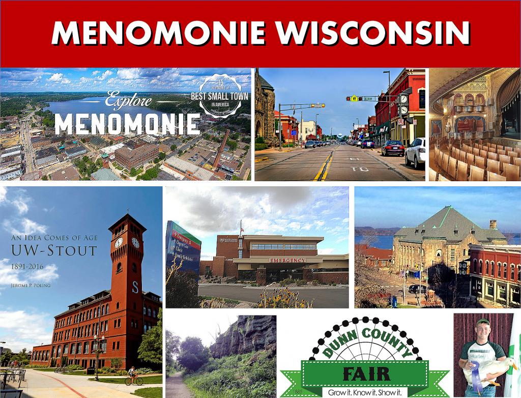 Menomonie WI Wisconsin - Photo Montage - Website Page Photo Banner - Transportation Services Between Minneapolis MN and Menomonie WI