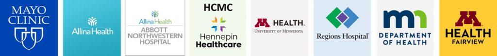 Minneapolis-Saint Paul Healthcare Providers Logo Images Strip for NEMT Non-Emergency Medical Transportation Car SUV Services