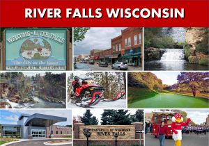River Falls WI Wisconsin - River Falls Limo and Car Services Transportation - Website Page Banner Photo Montage