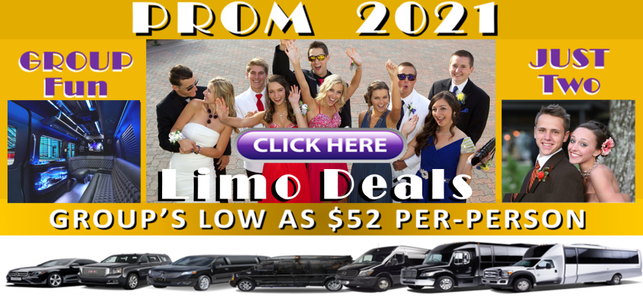 Best Prom Limos and Prom Party-Bus Services / Affordable Rates / Great Prom Group Deals and Discounts / Serving Minneapolis-St. Paul Area and Minnesota Proms Statewide