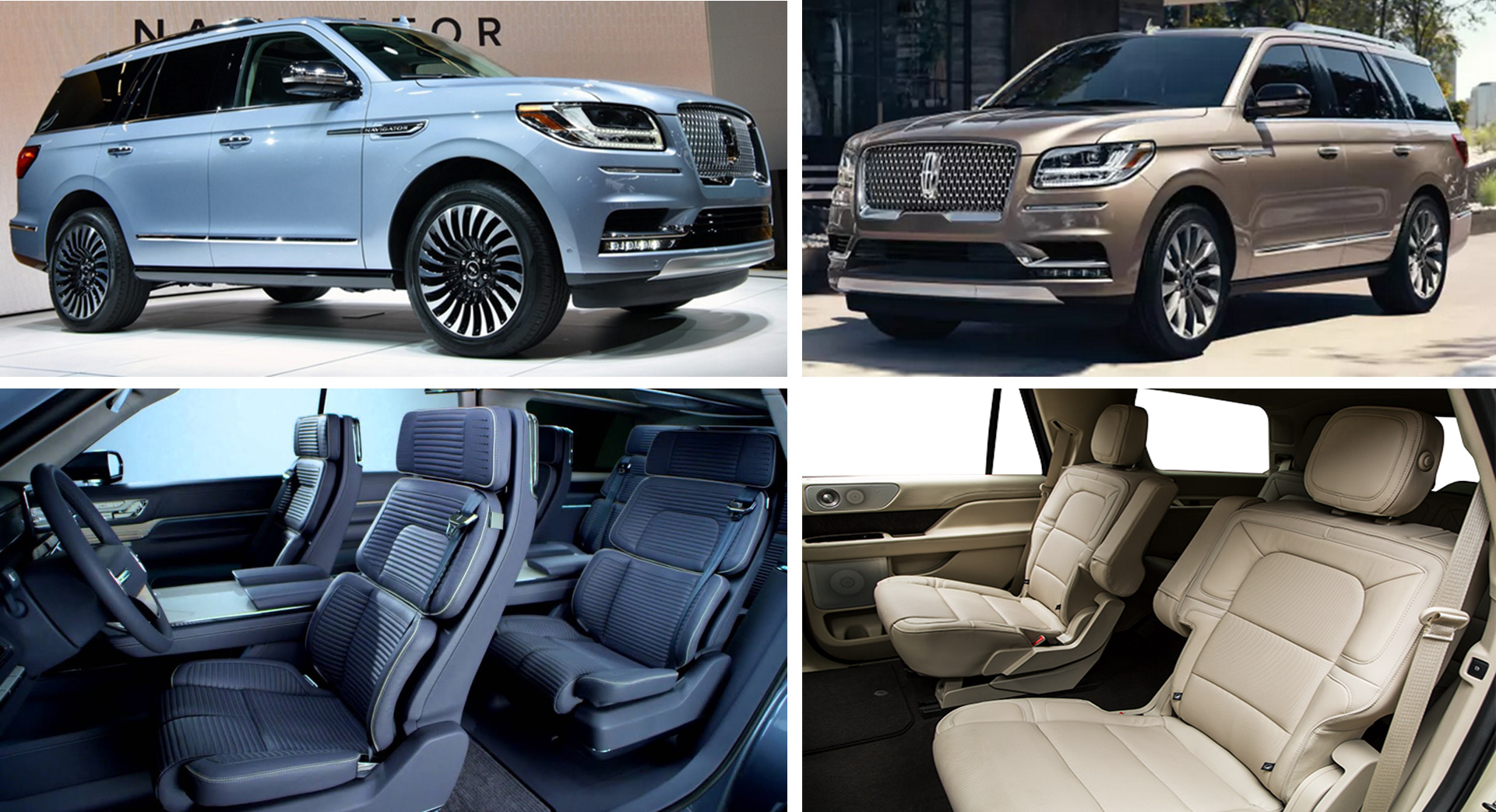 Minneapolis MN St Paul Minnesota Luxury Chauffeured Lincoln Navigator SUVs Blue-Gold-Exterior Blue-Ivory Interior Aspen Limo and Car Services